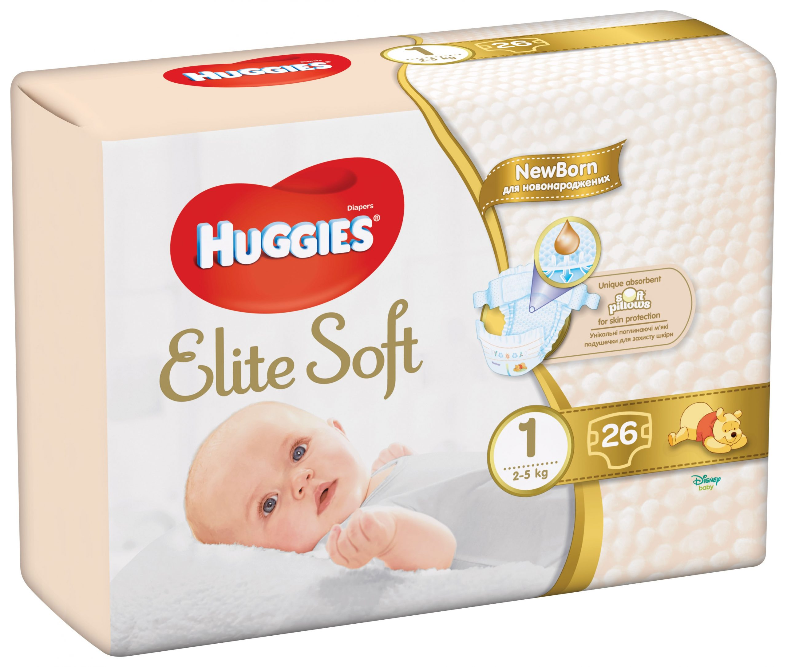 HUGGIES ELITE SOFT 1 (26) 2-5kg
