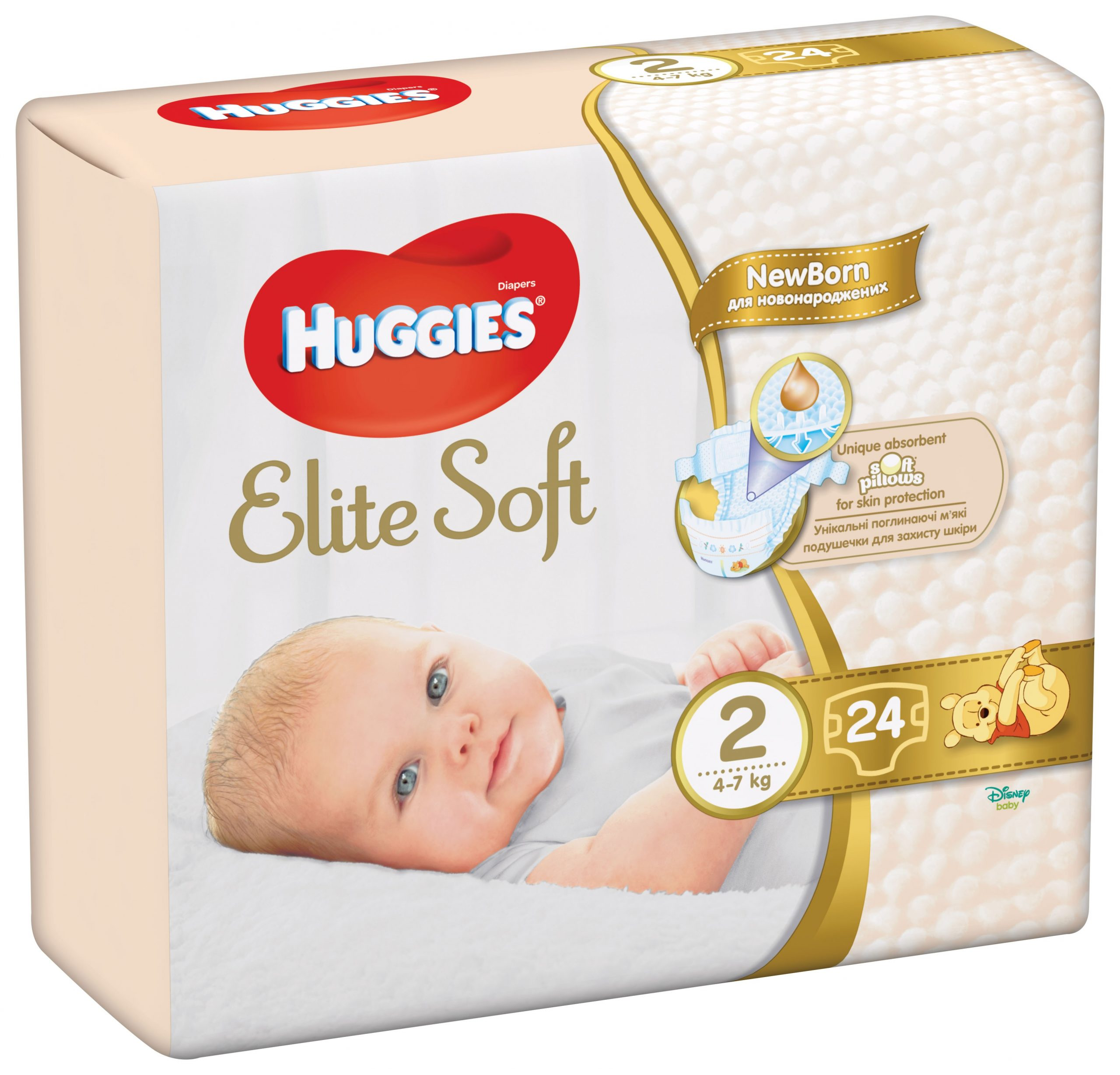 HUGGIES ELITE SOFT (2) 24 - (4-7kg)