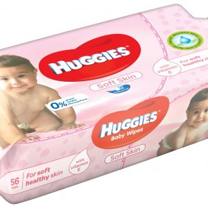 HUGGIES SOFT - servetele umede copii 56