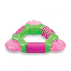 Nuby Inel gingival racoritor 4+ Pink