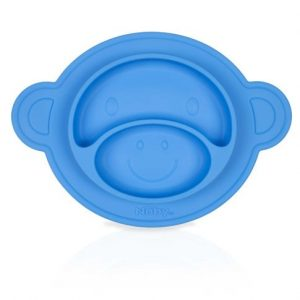 "Nuby Platou ""magic"" din silicon, 300ml, 9+ Blue"